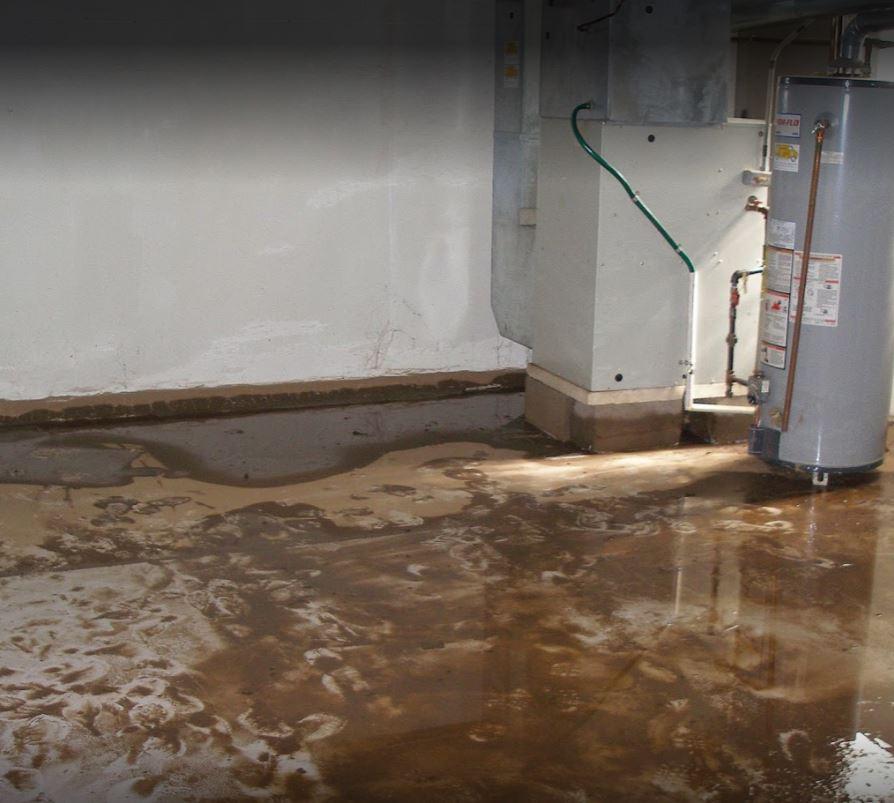 Water Damage Flooded Basement
